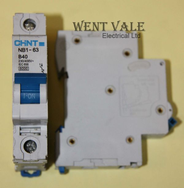 Chint NB1-63-B40 - 40a Type B Single Pole MCB Used